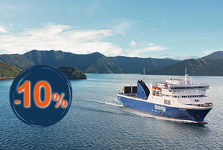 10% OFF New Zealand Sejlads med Bluebridge